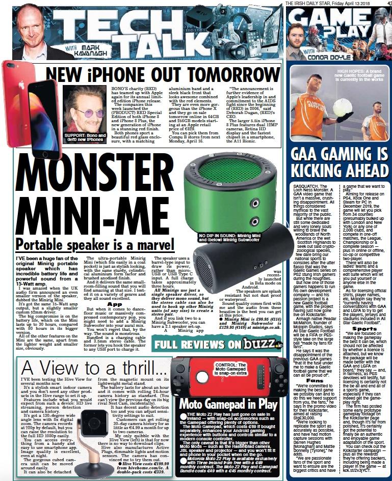 The Irish Daily Star | Minirigs Speakers
